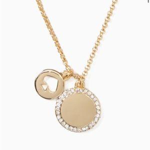 USED KATE SPADE spot the spade pave charm pendant
